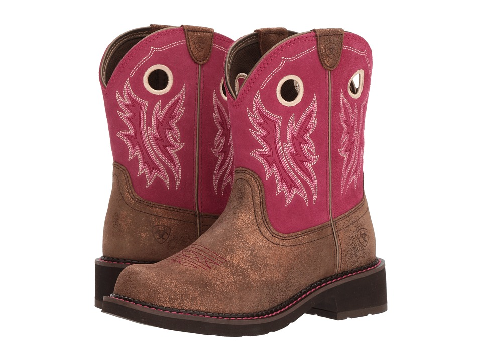 Ariat Fatbaby Heritage Cowgirl (Metallic Bronze/Hot Pink) Cowboy Boots