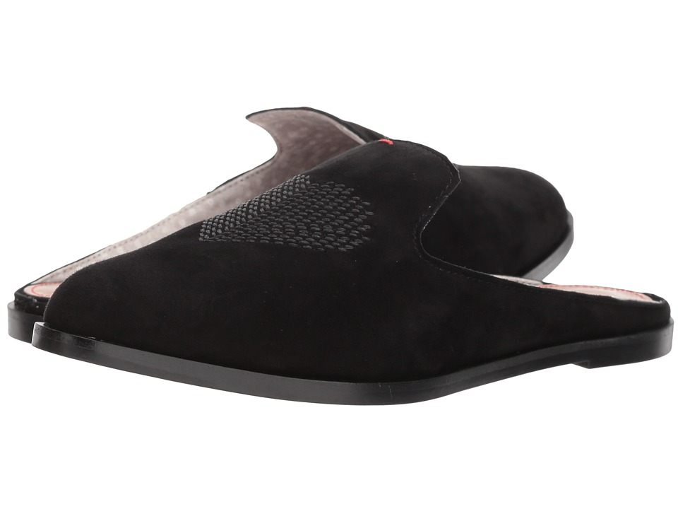 ED Ellen DeGeneres Klyde (Black Eco Kid Suede) Women's Clog/Mule Shoes
