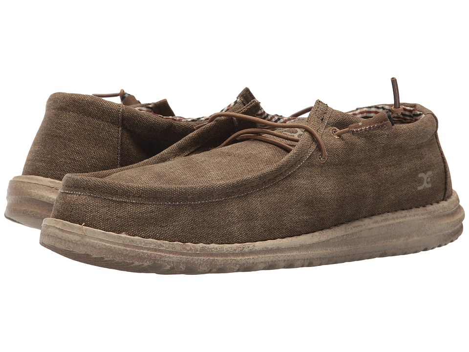 Hey Dude - Wally Canvas (Nut) Mens Shoes