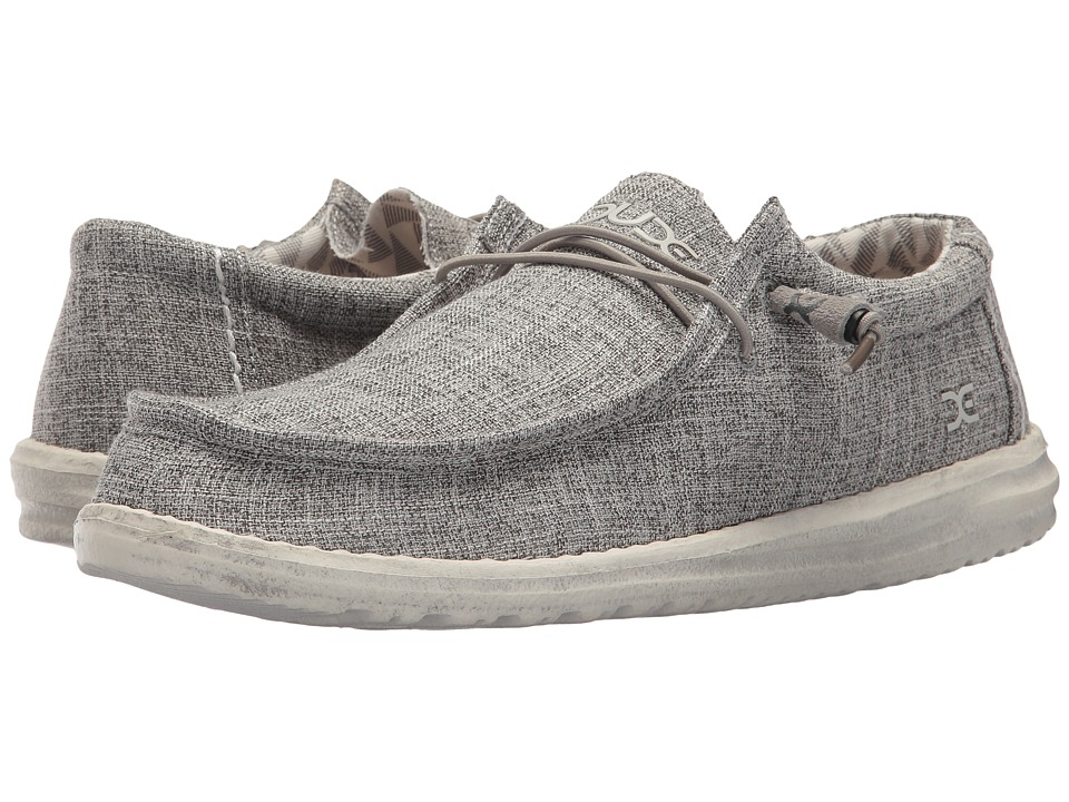 Hey Dude - Wally Linen (Iron) Mens Shoes