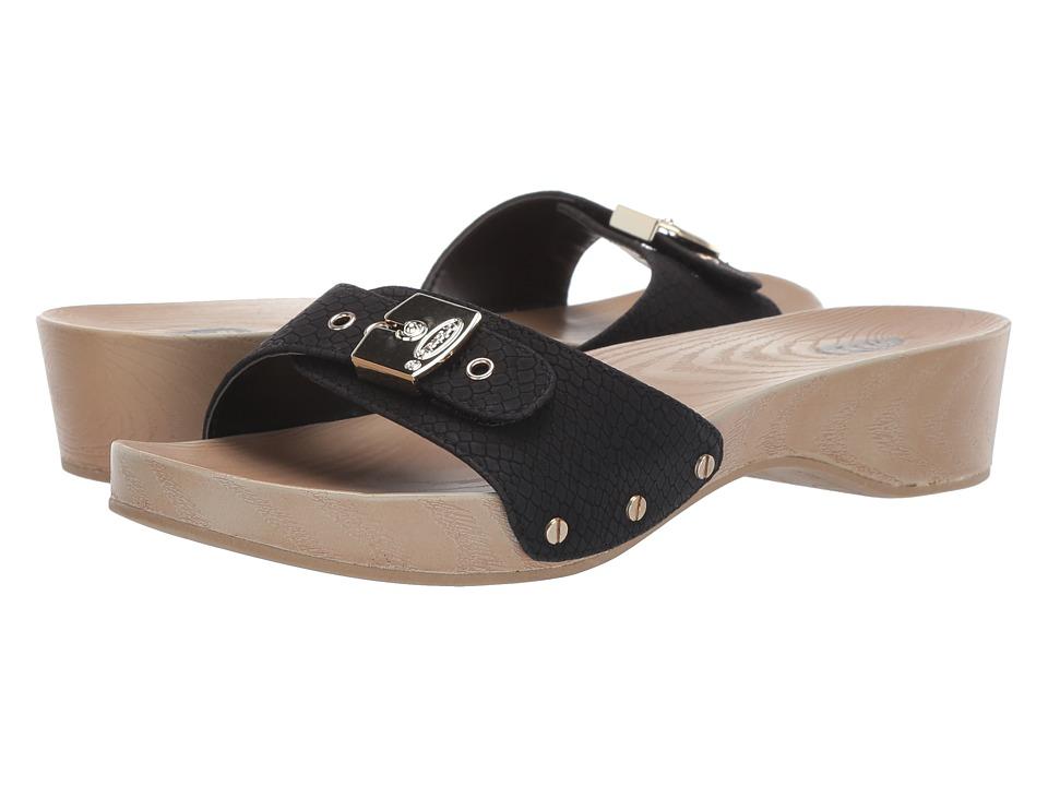 Dr. Scholls - Classic (Black Snake Print) Womens Slide Shoes