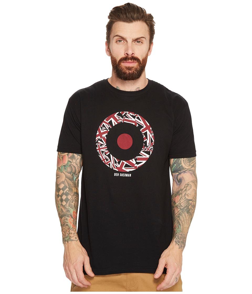 Ben Sherman Short Sleeve Union Jack Target Graphic Tee (Black) Men