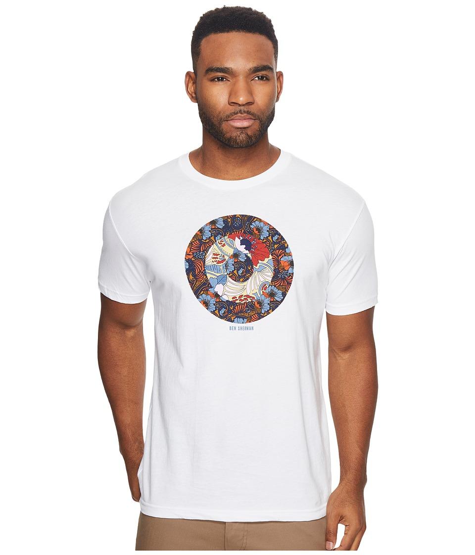 Ben Sherman Short Sleeve Hero Target Graphic Tee (White) Men