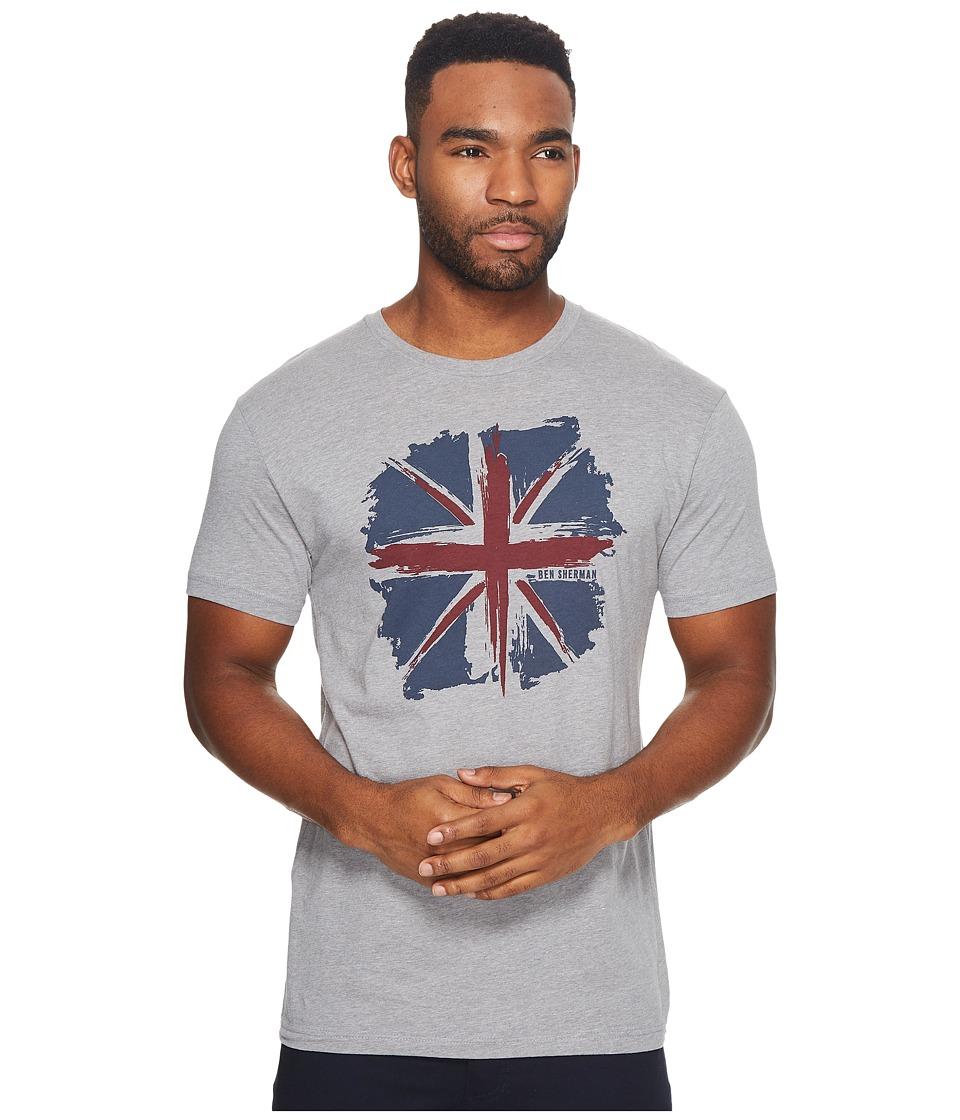 Ben Sherman Short Sleeve Union Jack Splash Graphic Tee (Heather Grey) Men