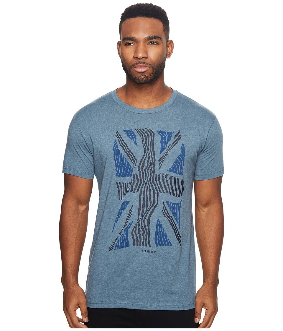 Ben Sherman Short Sleeve Union Warp Graphic Tee (Blue Shadow) Men