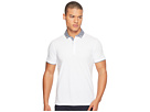 Ben Sherman Short Sleeve Gingham Woven Collar Polo