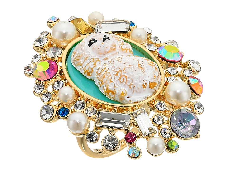 Betsey Johnson Poodle Cameo Ring (Multi) Ring