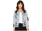 Blank NYC Embroidered Denim Jacket in Flight Song