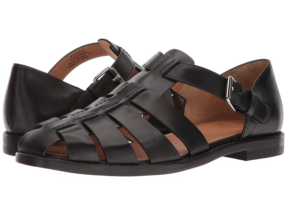 1940s Men's Fashion Clothing Styles Churchs Fisherman Sandal Black Mens Sandals $465.00 AT vintagedancer.com