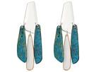 Robert Lee Morris Silver and Patina Chandelier Earrings