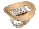 Robert Lee Morris Two-Tone Wire Wrap Disk Ring