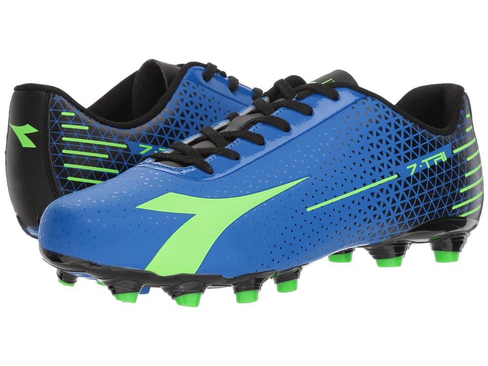 Diadora 7-TRI MG 14 (Imperial Blue/Lime Punch/Black) Soccer Shoes