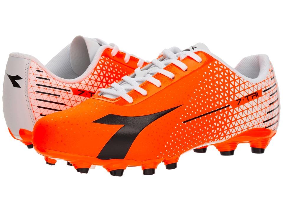 Diadora 7-TRI MG 14 (Red Fluo/Black/White) Soccer Shoes