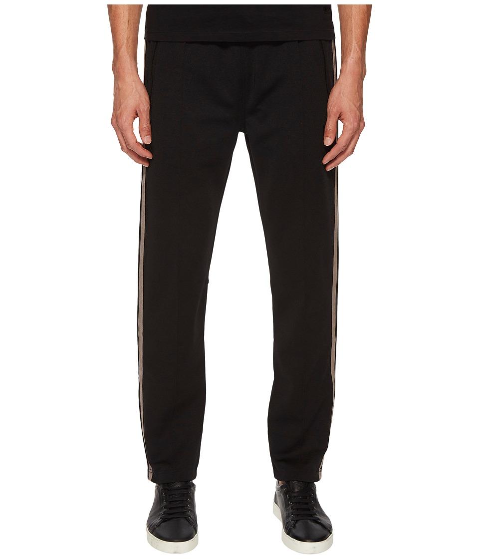 Image of BELSTAFF - Cambrose Technical Poly Cotton Interlock Track Pants (Black) Men's Casual Pants