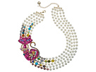 Betsey Johnson Cat Pearl Torsade Necklace