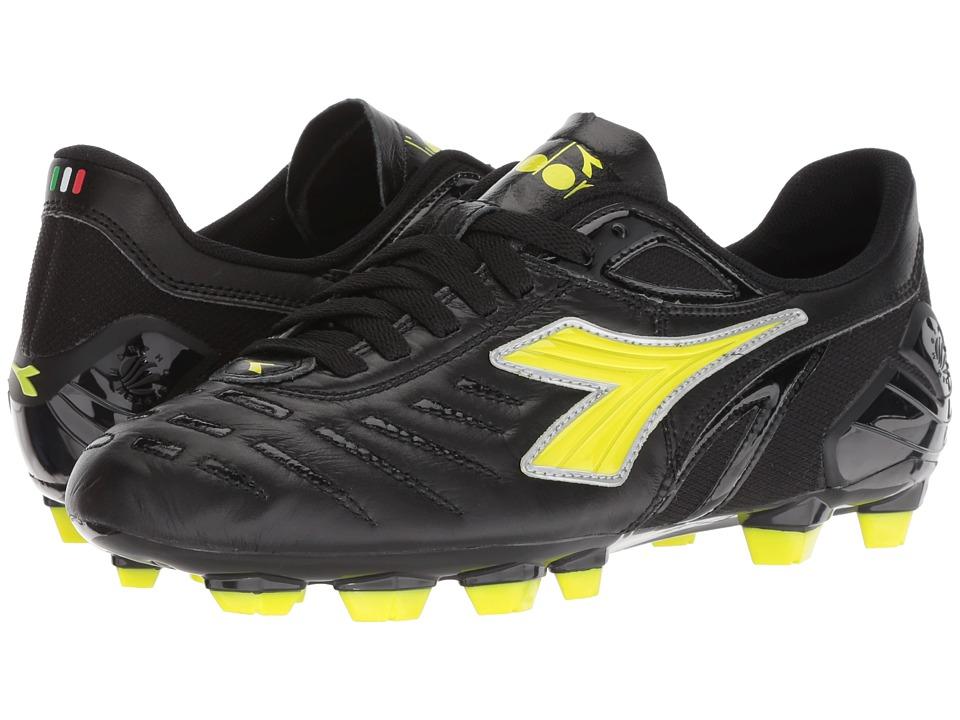 Diadora Maracana 18 W (Black/Fluo Yellow) Women's Soccer Shoes