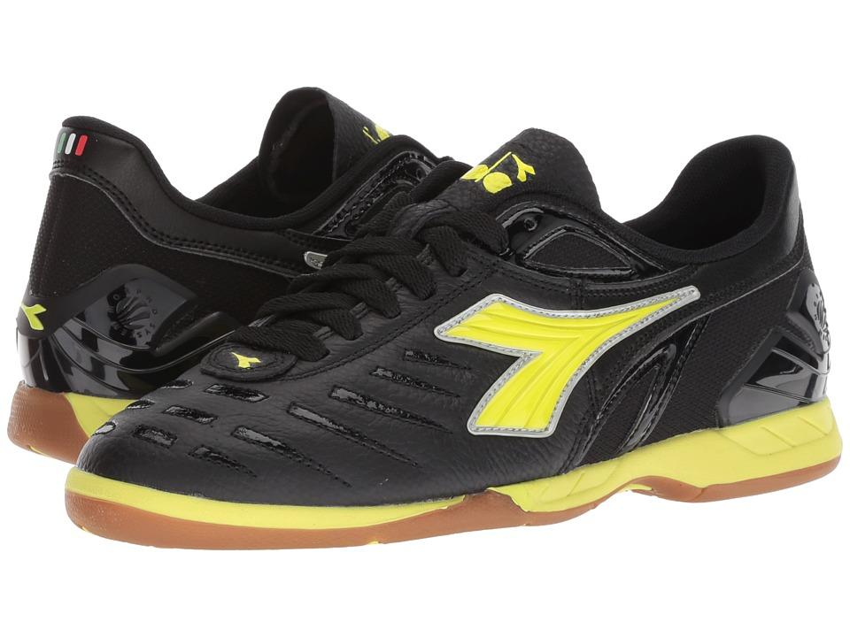 Diadora Maracana 18 W ID (Black/Fluo Yellow) Women's Soccer Shoes
