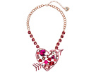 Betsey Johnson Pink Heart Pendant Necklace