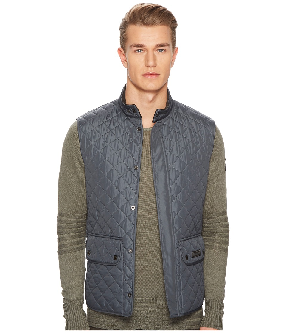 BELSTAFF - Waistcoat Lightweight Technical Quilts Vest Liner (Blue Pewter) Mens Vest
