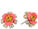 Betsey Johnson Betsey Johnson Pink and Gold Flower Stud Earrings