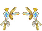 Betsey Johnson Yellow and Gold Bird Stud Earrings