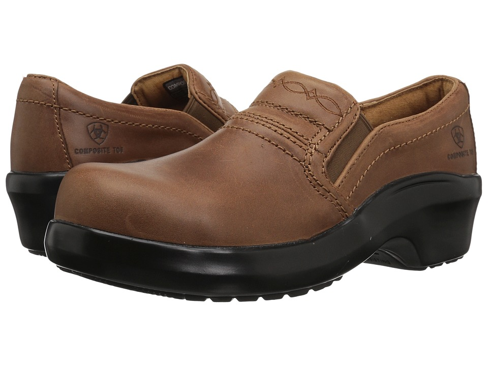 Ariat Expert Safety Clog Composite Toe (Brown) Slip-On Shoes