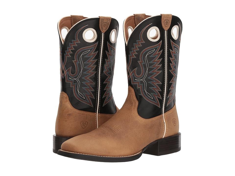 Ariat - Sport Ranger (Bunkhouse Beige/Limousine Black) Cowboy Boots