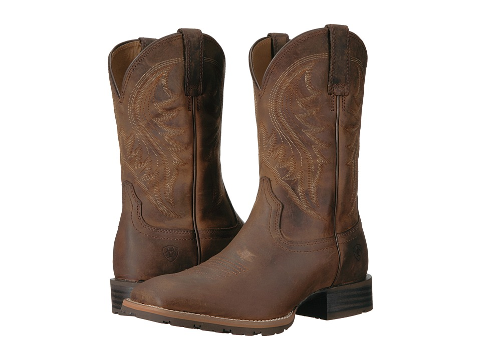 Ariat - Hybrid Rancher (Distressed Brown) Cowboy Boots