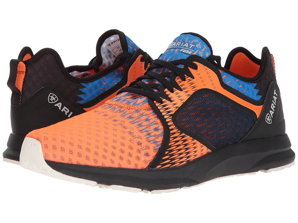 Ariat - Fuse (Orange/Blue Ombre Mesh) Mens Lace up casual Shoes