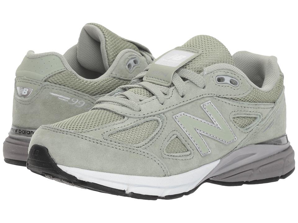 New Balance Kids KJ990v4P (Little Kid) (Silver Mint/White) Girls Shoes