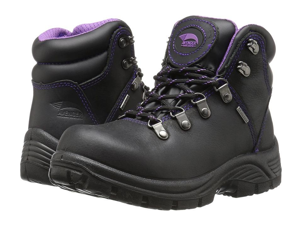 Avenger A7124 Steel Toe (Black) Women's Work Boots