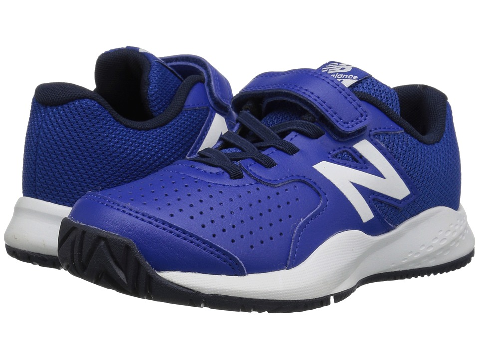 New Balance Kids KC696v3 Tennis (Little Kid/Big Kid) (Blue/White) Kids Shoes
