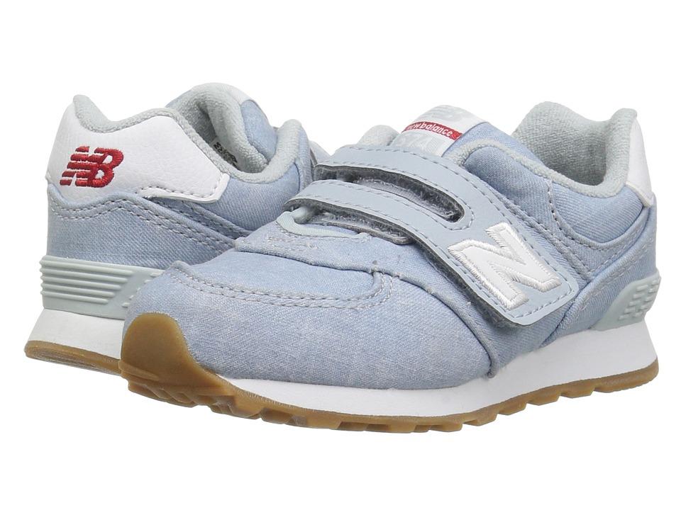 New Balance Kids IV574v1 (Infant/Toddler) (Light Porcelain/White) Girls Shoes