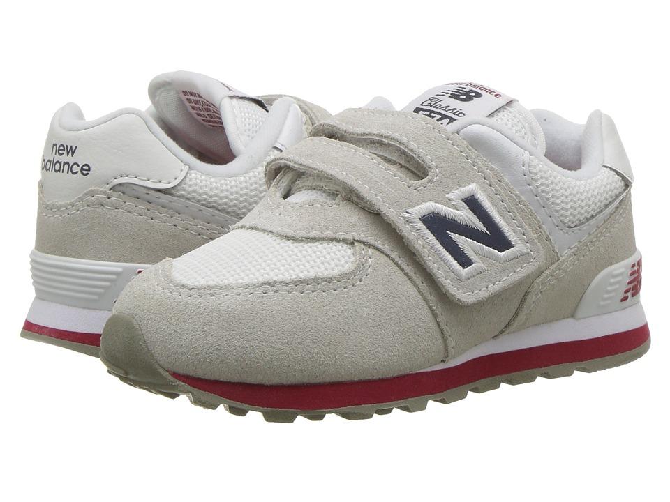 New Balance Kids IV574v1 (Infant/Toddler) (Nimbus Cloud/Navy) Kids Shoes