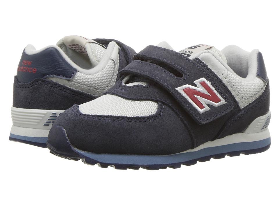 New Balance Kids IV574v1 (Infant/Toddler) (Navy/Red) Kids Shoes