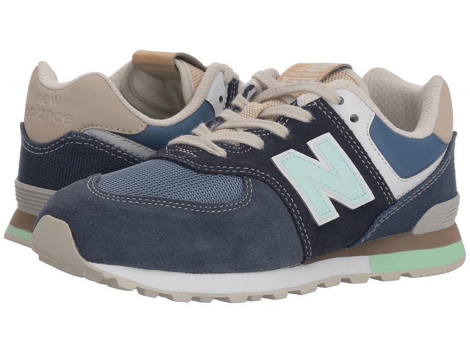 New Balance Kids GC574v1 (Big Kid) (Navy/Vintage Indigo) Kids Shoes