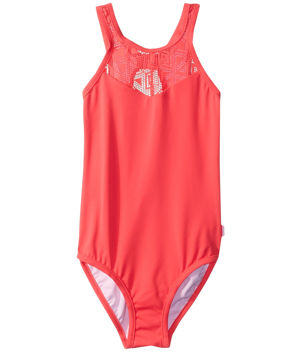 Seafolly Kids - Summer Essentials High Neck Tank One-Piece (Little Kids/Big Kids) (Jewel Coral) Girls Swimsuits One Piece