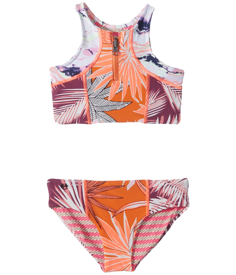 Maaji Kids - Tangerine Turtoise Bikini (Toddler/Little Kids/Big Kids) (Multicolor) Girls Swimwear Sets