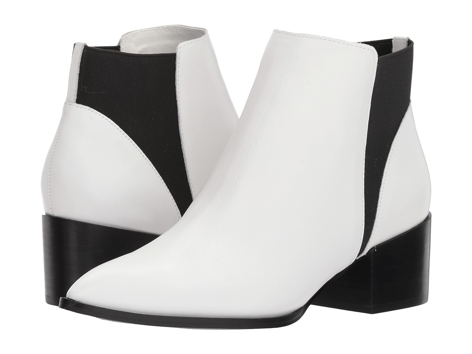 Chinese Laundry Finn Bootie (White Smooth Leather)