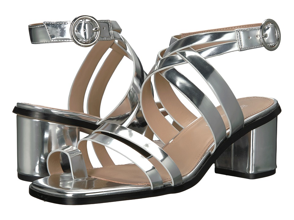 BCBGeneration - Erica (Silver Smooth Metallic) Women's Sandals