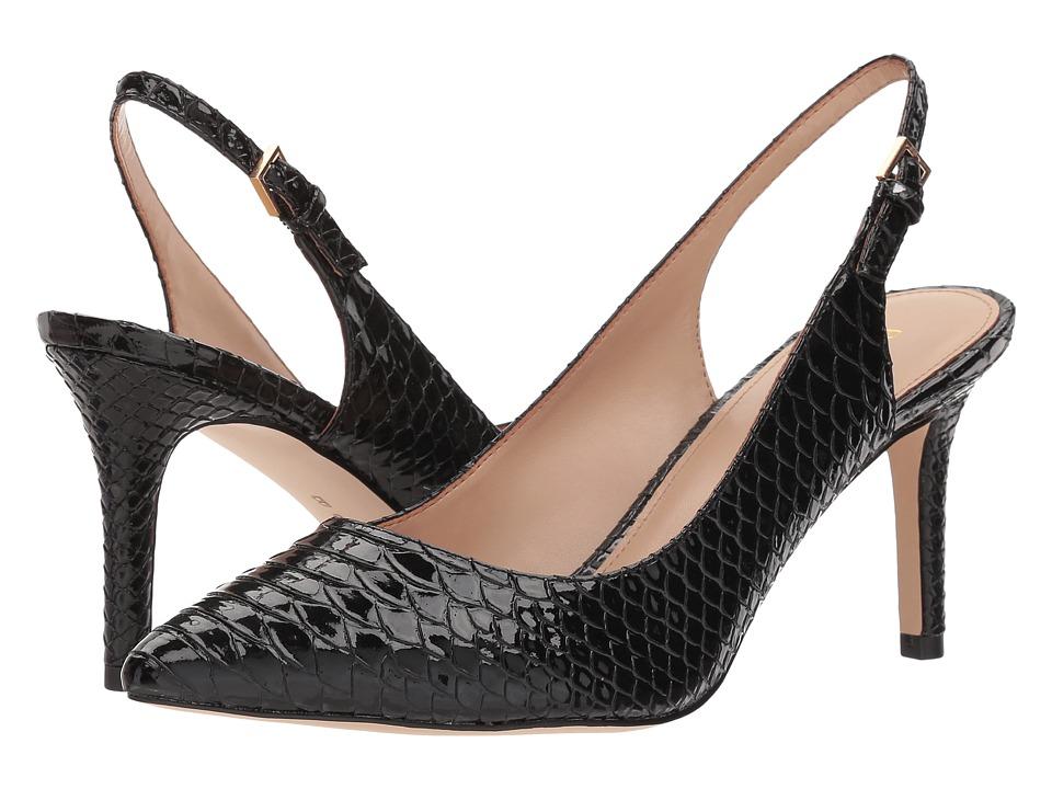 BCBGeneration Marci Slingback (Black Patent Snake Embossed) High Heels
