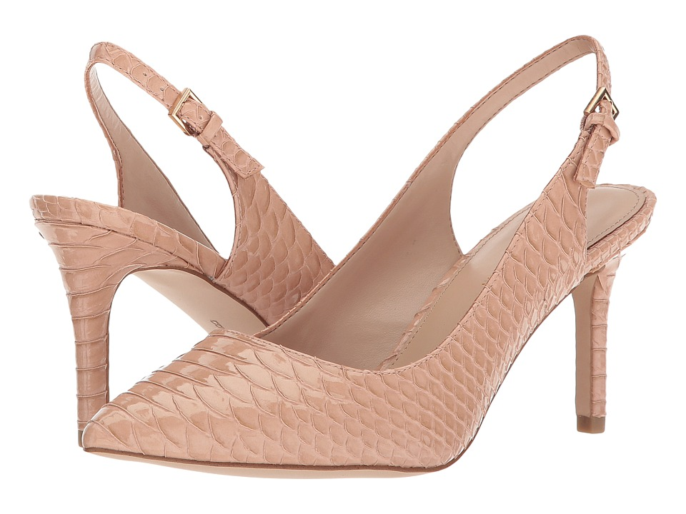 BCBGeneration Marci Slingback (Blush Patent Snake Embossed) High Heels