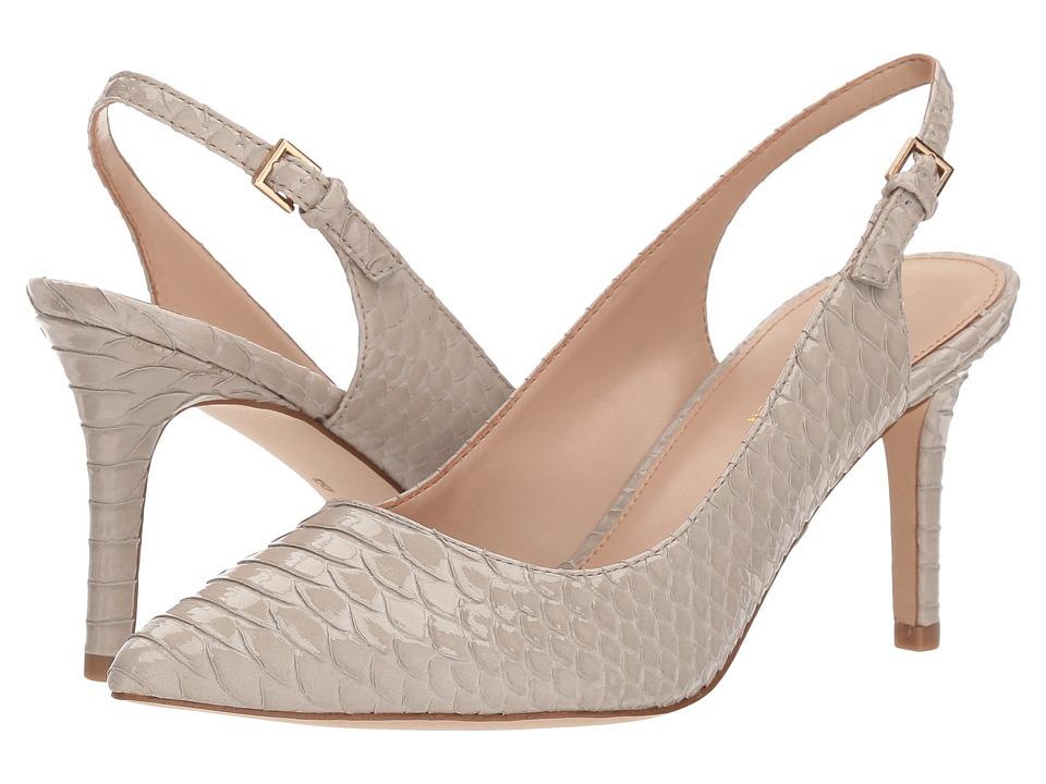 BCBGeneration Marci Slingback (Grey Patent Snake Embossed) High Heels