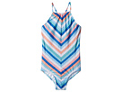 Seafolly Kids Moonchild Stripe Ruched Neck Tank One-Piece (Little Kids/Big Kids)