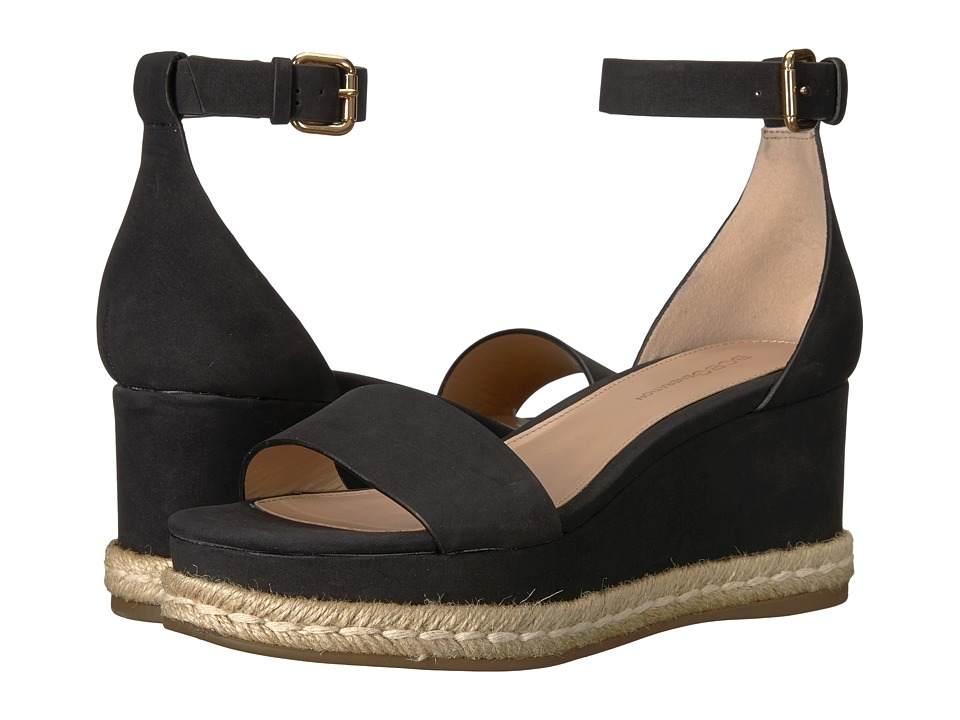 BCBGeneration - Addie (Black Velour Microsuede) Women's Sandals