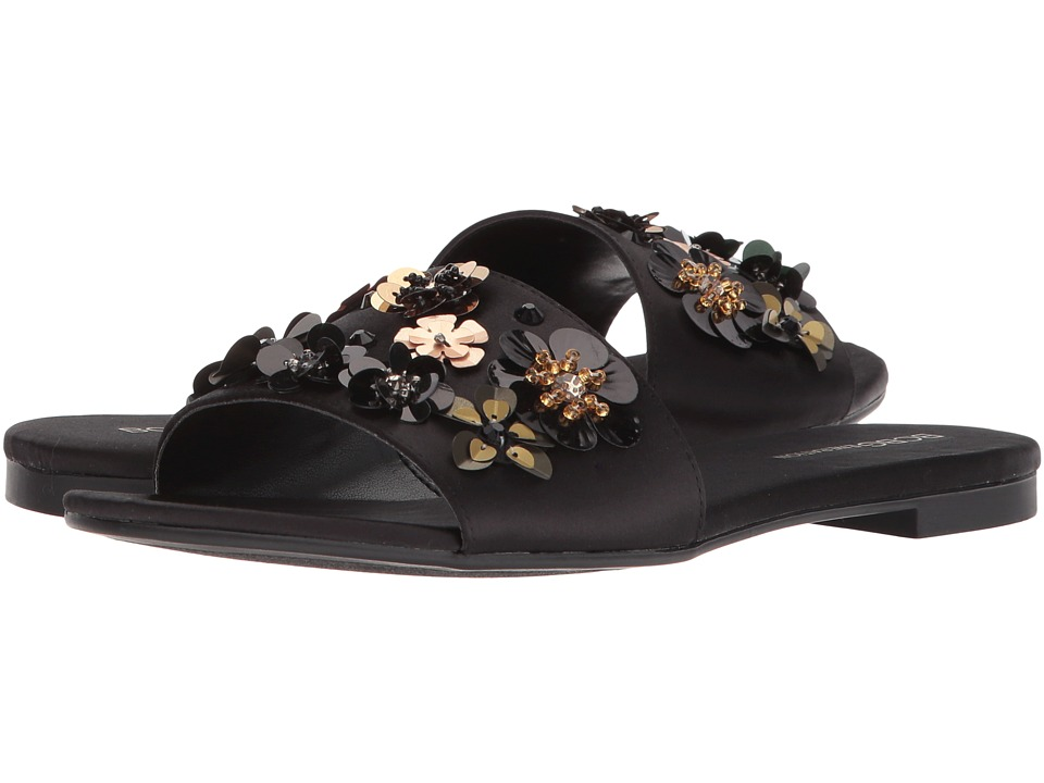 BCBGeneration - Garnet (Black Satin) Womens Sandals