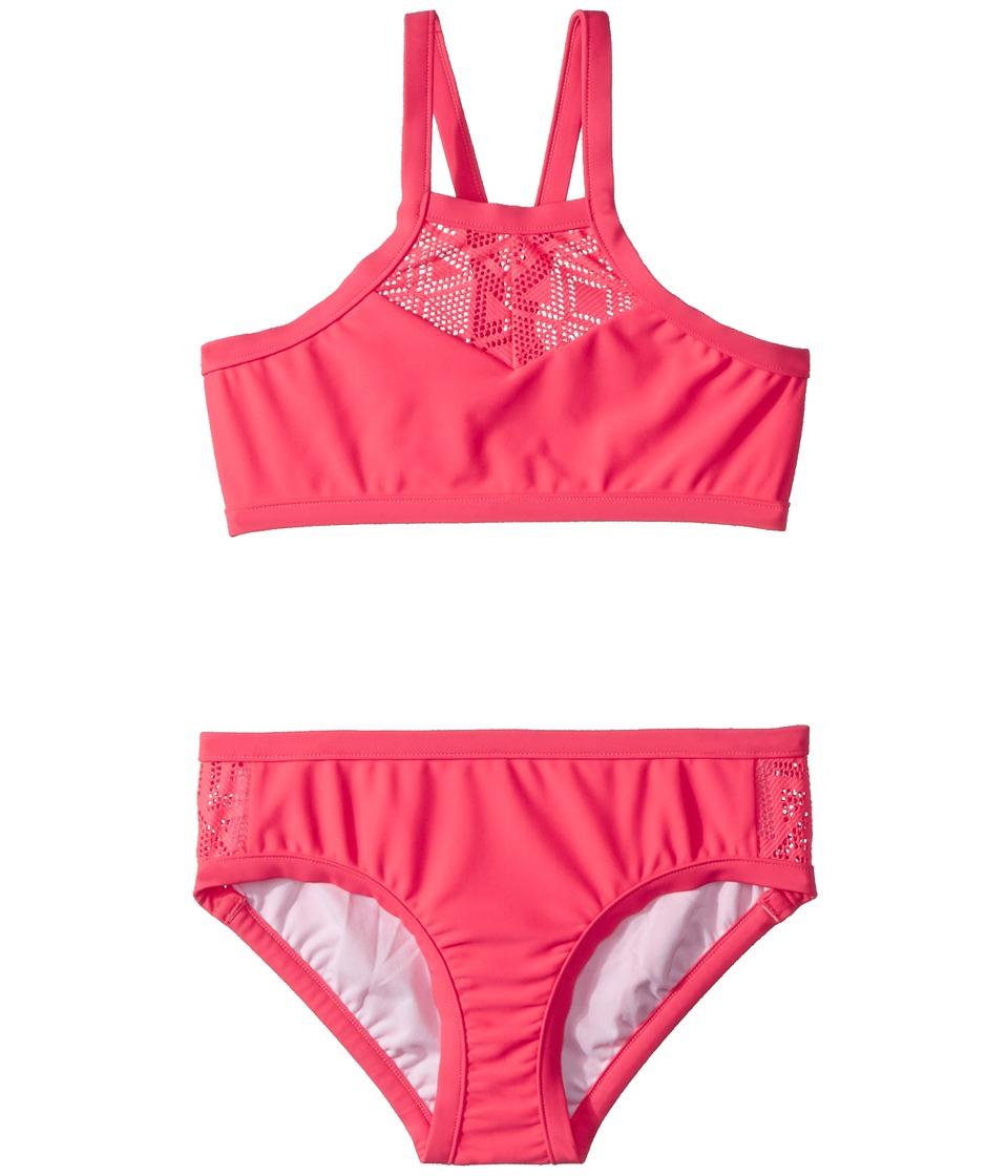 Seafolly Kids Summer Essentials Apron Tankini Set (Little Kids/Big Kids) (Jewel Coral) Girl