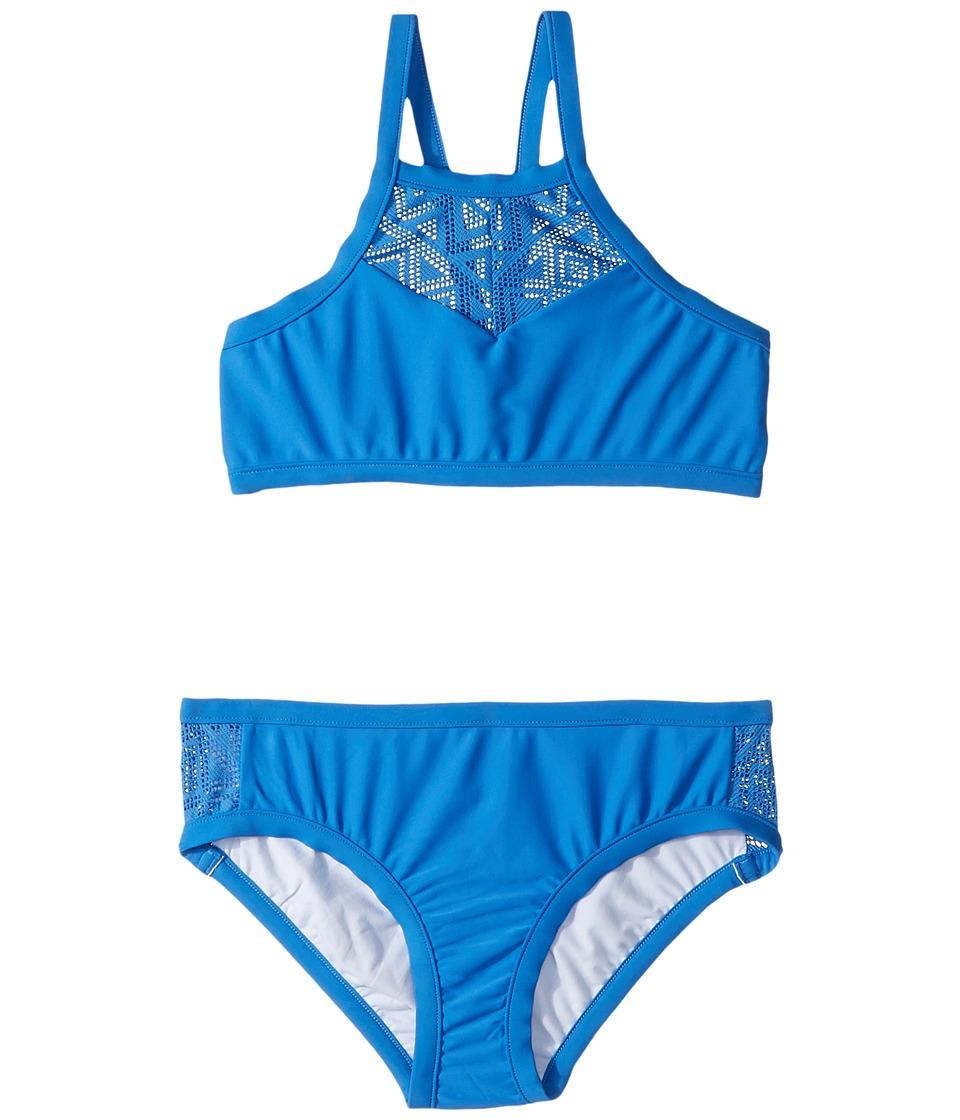 Seafolly Kids Summer Essentials Apron Tankini Set (Little Kids/Big Kids) (Hawaii Blue) Girl