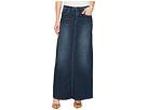 Blank NYC Long Denim Skirt in Masterbathe
