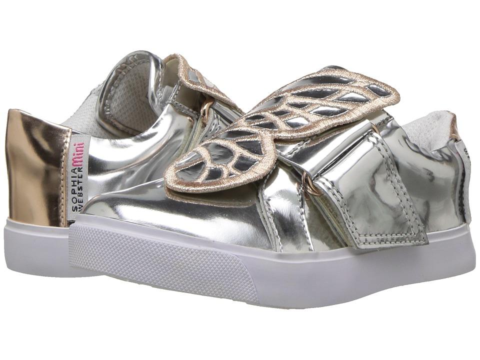 Sophia Webster - Bibi Low Top (Toddler/Little Kid) (Silver/Rose Gold) Girls Shoes